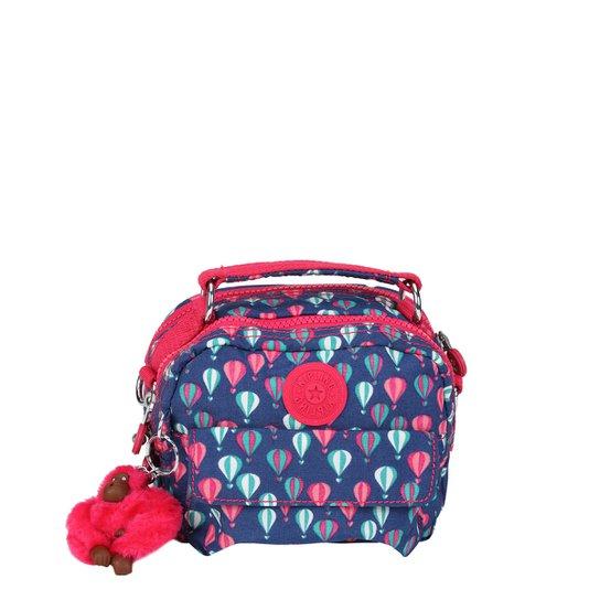 aaf0eab0a Bolsa Kipling Mini Bag Puck Feminina - Azul+Pink