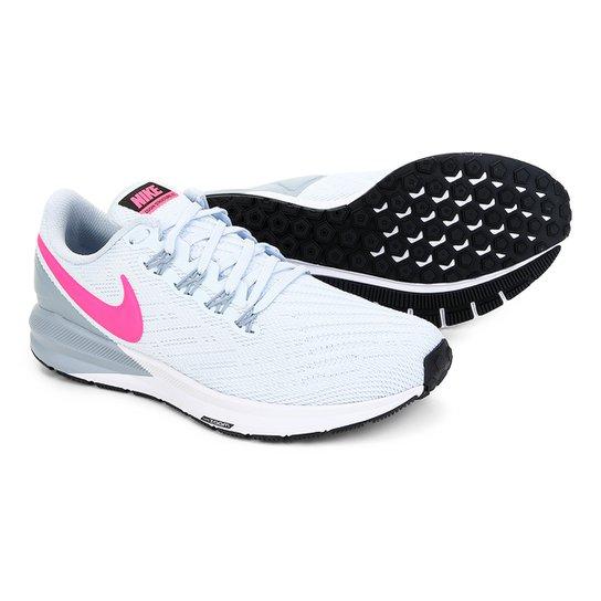 b4496c08c1ffab Tênis Nike Air Zoom Structure 22 Feminino - Branco e Pink | Netshoes