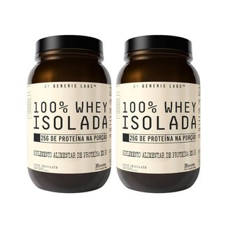 2X 100% Whey Isolate  900G    Generic Labs