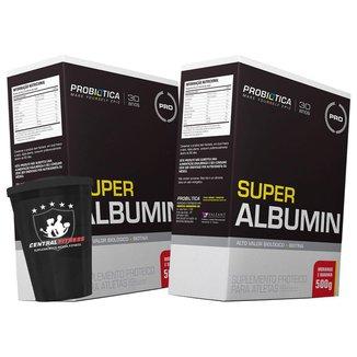 2x Albumina - Super Albumin 500g + Copo - Probiótica