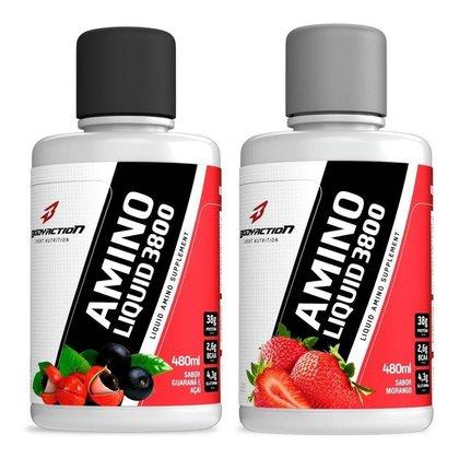 2x Amino Liquid 38000 480ml Aminoácido Líquido - Body Action