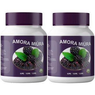 2x Amora Miúra 500mg 120 Cápsulas Itaervas