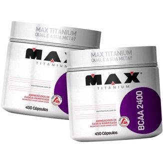 2x Bcaa 2400 450 Cápsulas - Max Titanium