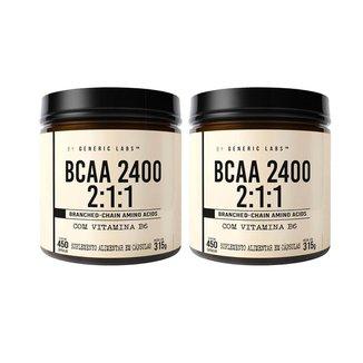 2X Bcaa 450 Caps (450 Cápsulas) - Generic Labs