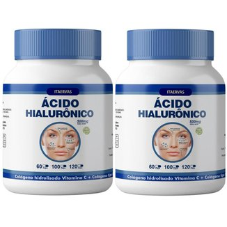 2x Colágeno Tipo 2 + Ácido Hialurônico + Colágeno Hidrolisado 500mg Itaervas