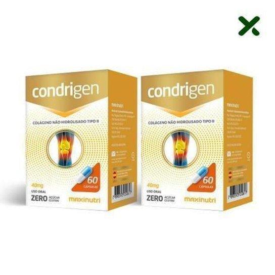 2x Condrigen (Colágeno Tipo II) 40mg (2x 60 cápsulas) - MaxiNutri -