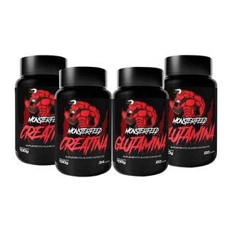 2X Creatina (100G) + 2X Glutamina (100G) (100G) - Monsterfeed
