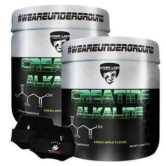2x Creatine Alkaline 200g + Luva - Under Labz