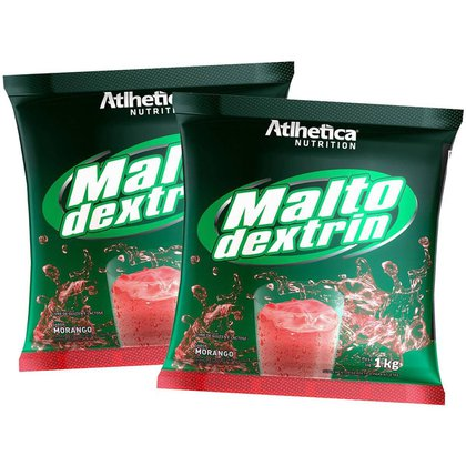 2x Malto Dextrina 1kg - Morango - Atlhetica Nutrition