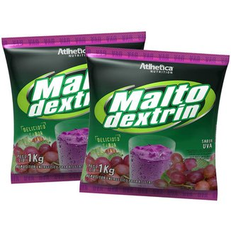 2x Malto Dextrina 1kg - Uva - Atlhetica Nutrition