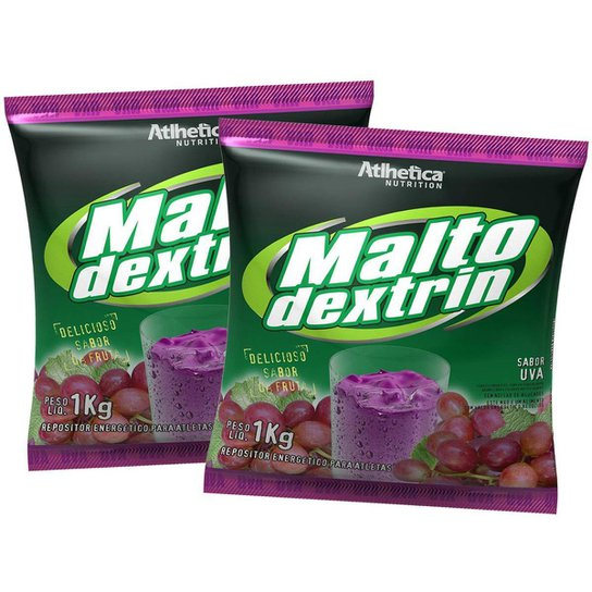 2x Malto Dextrina 1kg - Uva - Atlhetica Nutrition -