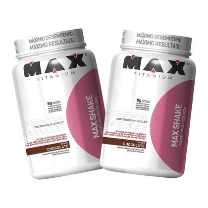 2x Max Shake Protein 400g - Chocolate - Max Titanium