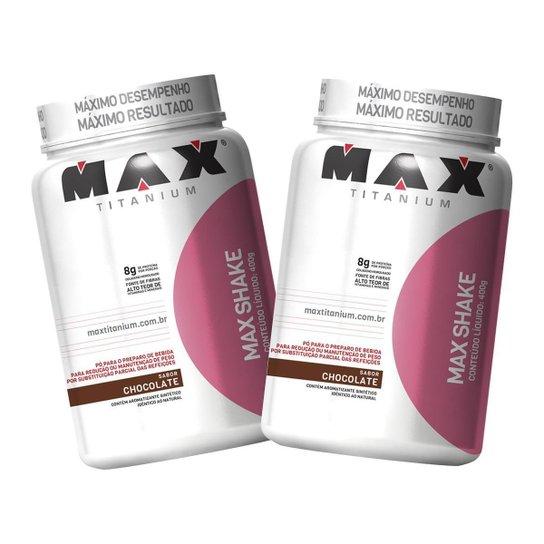 2x Max Shake Protein 400g - Chocolate - Max Titanium -