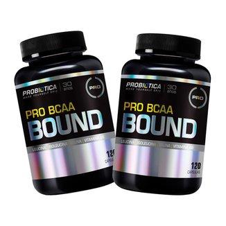 2x Pro Bcaa Bound - 120 Cápsulas - Probiótica