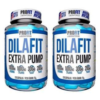 2x Vasodilatador Dilafit Extra Pump 120 Capsulas - Profit