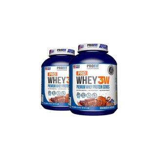 2x Whey Protein 3w Premium 1,814g Pote - Profit Labs
