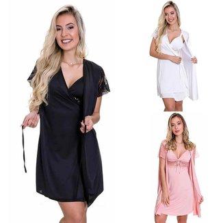 3 Camisolas tênis feminino para caminhada Branca 1 Rosa Estilo Sedutor - V70
