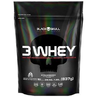 3 Whey Protein Black Skull 830g