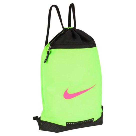 4759fde30 Sacola Nike Team Training DS - Verde Claro+Preto