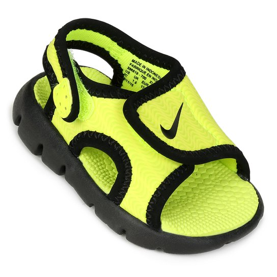 405a08e0e0 Sandália Infantil Nike Sunray Adjust 4 - Verde Limão   Netshoes