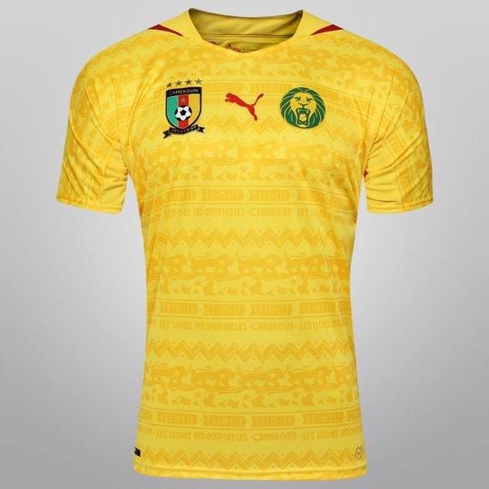Camisa Seleção Camarões Away 2014 s nº Torcedor Puma Masculina - Amarelo 3ef43f963ebf7