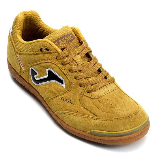 35f290e4af Chuteira Futsal Joma Classic Nobuck IN - Amarelo - Compre Agora ...
