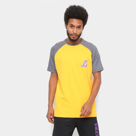cb471038b Camiseta NBA Los Angeles Lakers Mini Logo Masculina - Amarelo ...