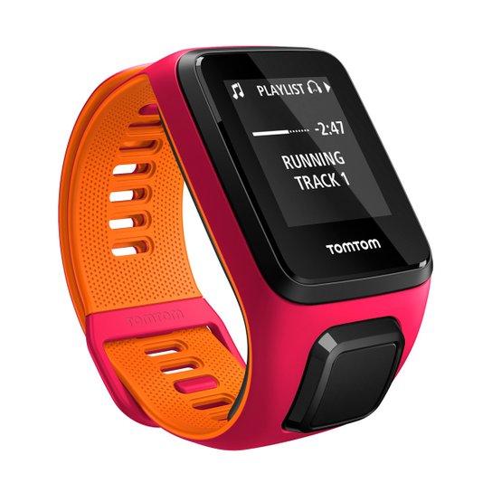 Relógio GPS c  Monitor Cardíaco no Pulso TomTom Runner 3 Cardio + Music -  Rosa d6940a31d1