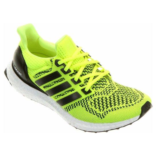 Tênis Adidas Ultra Boost Masculino - Verde Limão+Cinza 755d03165775f