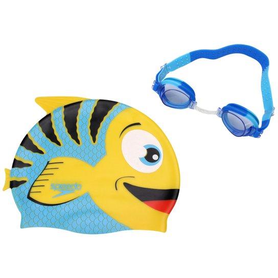 e048d15a22 Kit Óculos + Touca Fish Combo - Speedo - Amarelo e Azul - Compre ...
