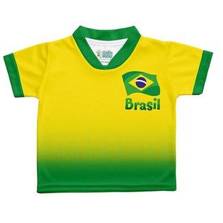 Camiseta Infantil Sublimada Torcida Baby Brasil Unissex 01ab95943f076