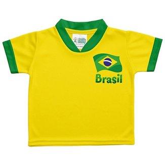 6118904744 Camiseta Infantil Torcida Baby Brasil Unissex