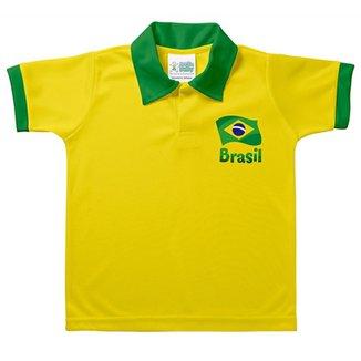Camiseta Polo Infantil Torcida Baby Brasil Unissex 79eb274d2dd2c
