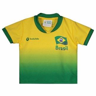 670be0de40 Camisa Brasil Infantil Torcida Baby Masculina