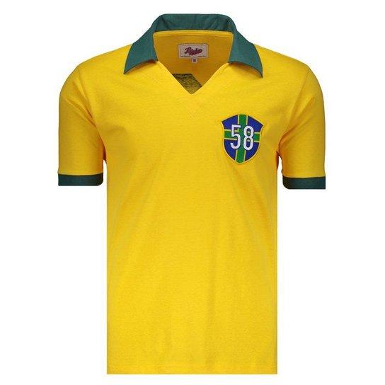 9db65eac66 Camisa Brasil 58 Retrô N° 10 Masculina - Compre Agora