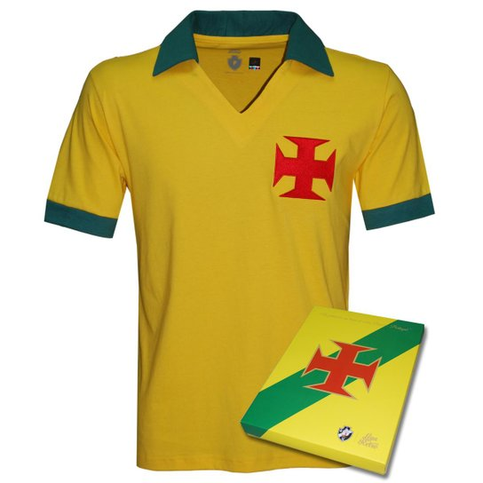 bd4f5fb7ac Camisa Liga Retrô Vasco Brasil Masculina - Edição Limitada - Amarelo ...