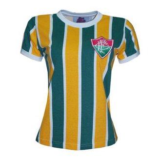 Camisa Liga Retrô Fluminense Brasil Feminino - Edição Limitada 95ec7ac8984f1
