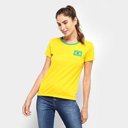 Camisa Brasil Torcedor Feminina