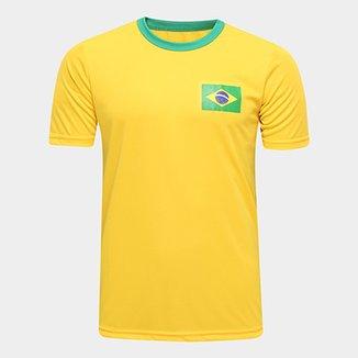 77db6497ad556 Camisa Brasil Torcedor Masculina