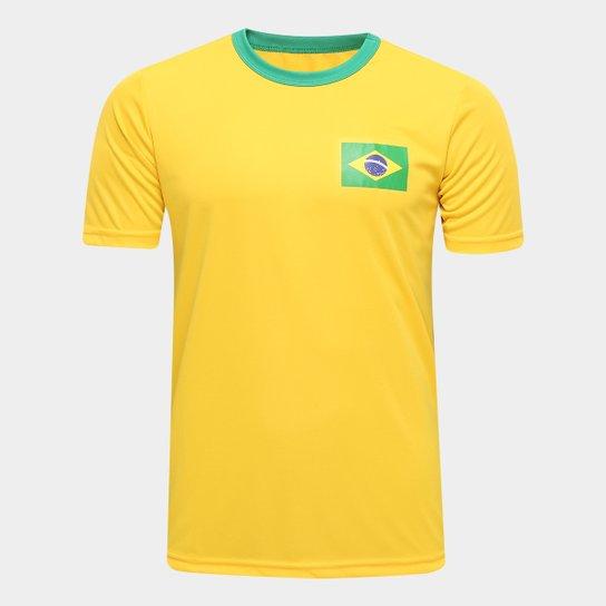 cce8b713ef Camisa Brasil Torcedor Masculina - Amarelo - Compre Agora