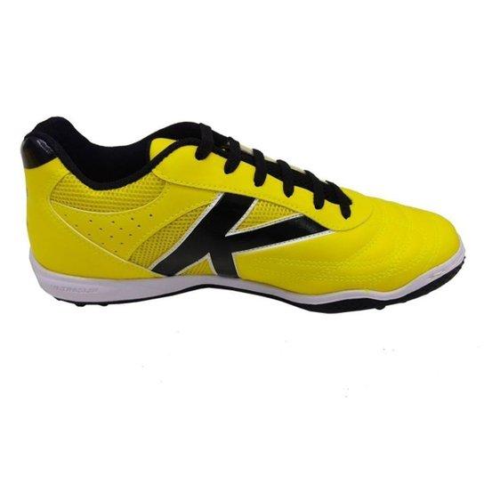 86d629b06f528 Chuteira Society Kelme Skill TF KEF - Amarelo   Netshoes