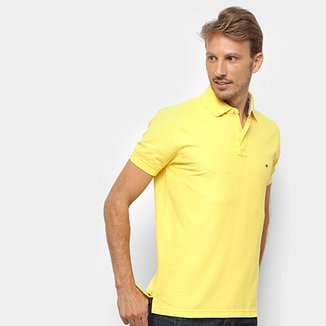 Camisa Polo Tommy Hilfiger Detalhe Bordado Regular Masculina a2ce90c2334cc