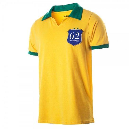 64183cc55a Camisa Polo Retrô Gol Seleção Brasil 1962 - Compre Agora