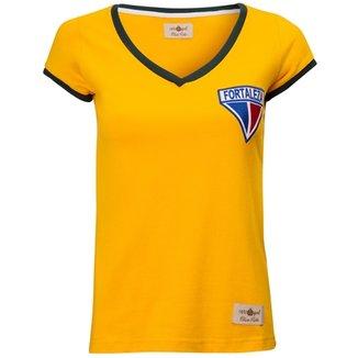 7191f903db Camisa Feminina Baby Look Retrô Gol Fortaleza Seleção Brasil Torcedor