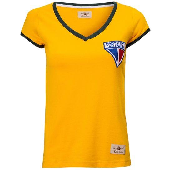 Camisa Feminina Baby Look Retrô Gol Fortaleza Seleção Brasil Torcedor -  Amarelo e99a788deae71
