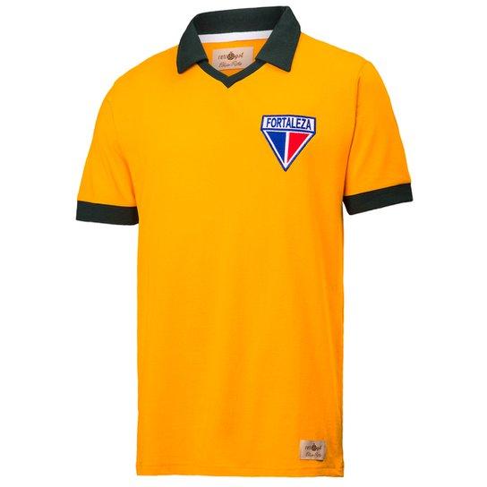 6f5ba9161b8 Camisa Polo Retrô Gol Fortaleza Seleção Brasil Torcedor - Amarelo ...