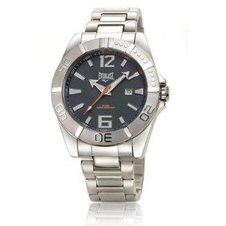 7aec7aadae8 Relógio Everlast Masculino Cx e Pulseira Aço Analógico