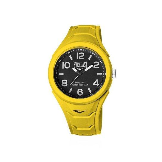 739dee4e516 Relógio Pulso Everlast Shape Caixa Abs Revestido Silicone - Amarelo ...