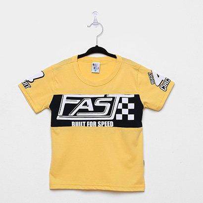 Camiseta Infantil Pulla Bulla Fast Buut For Speed Masculina