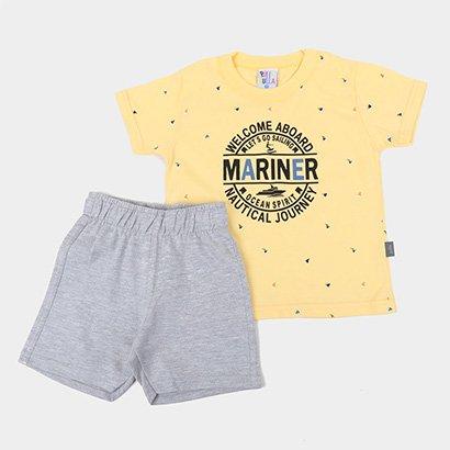Conjunto Infantil Pulla Bulla Marinheiro Masculino